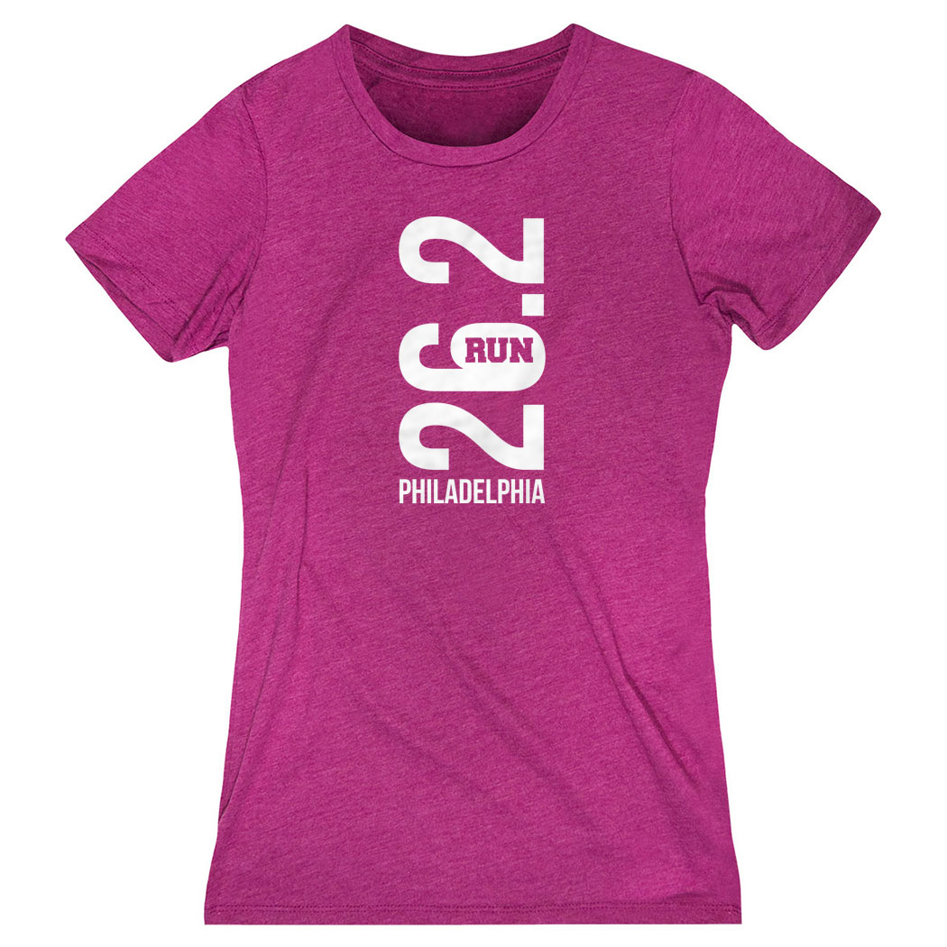 Women's Everyday Runners Tee - Philadelphia 26.2 Vertical