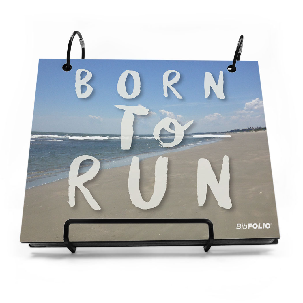 BibFOLIO® Race Bib Album - Born To Run