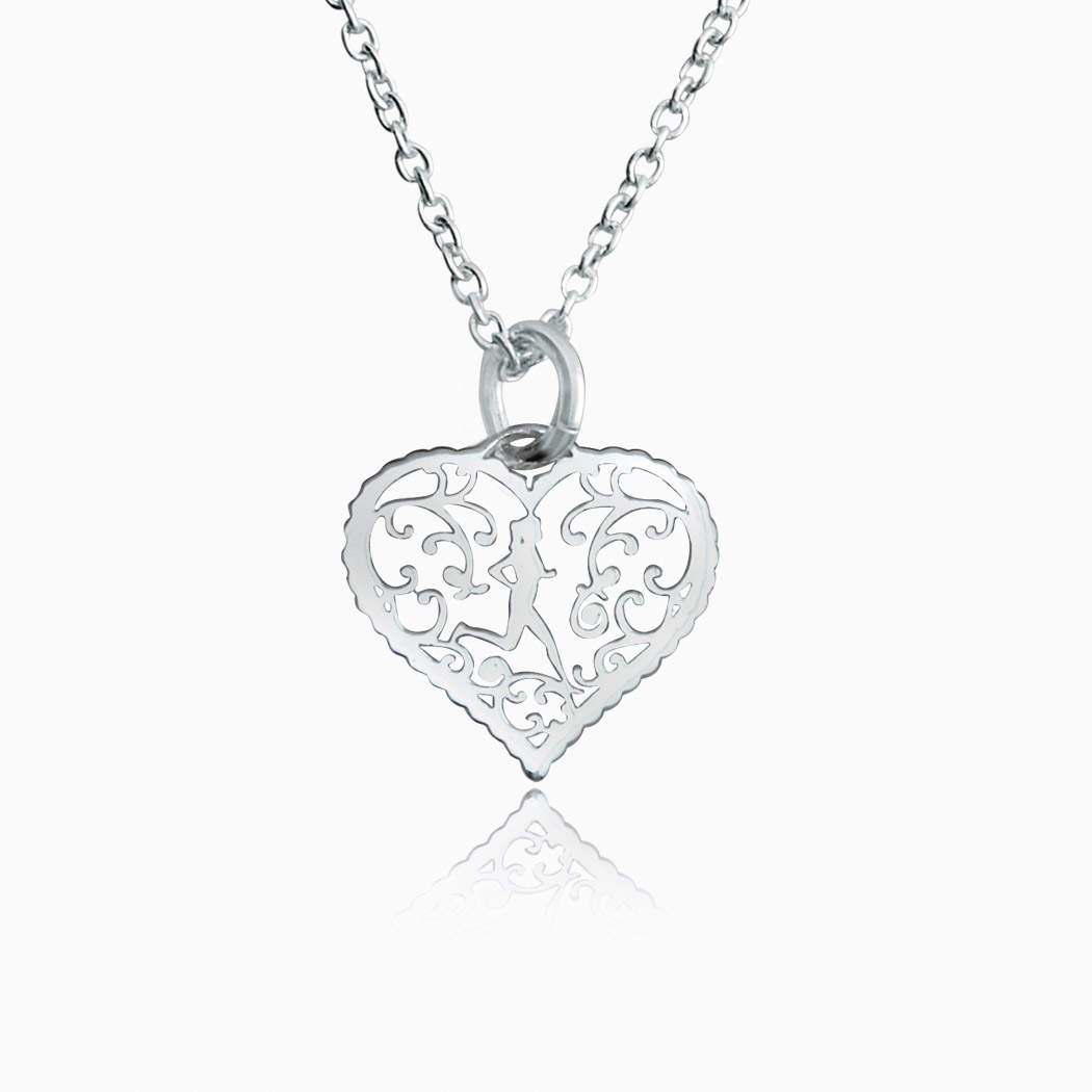 Livia designs sterling silver filigree runner heart necklace gone livia collection sterling silver filigree runner heart necklace mozeypictures Image collections