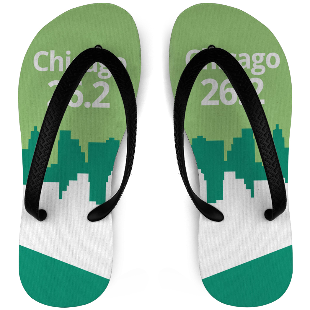 Running Flip Flops 26.2 Chicago