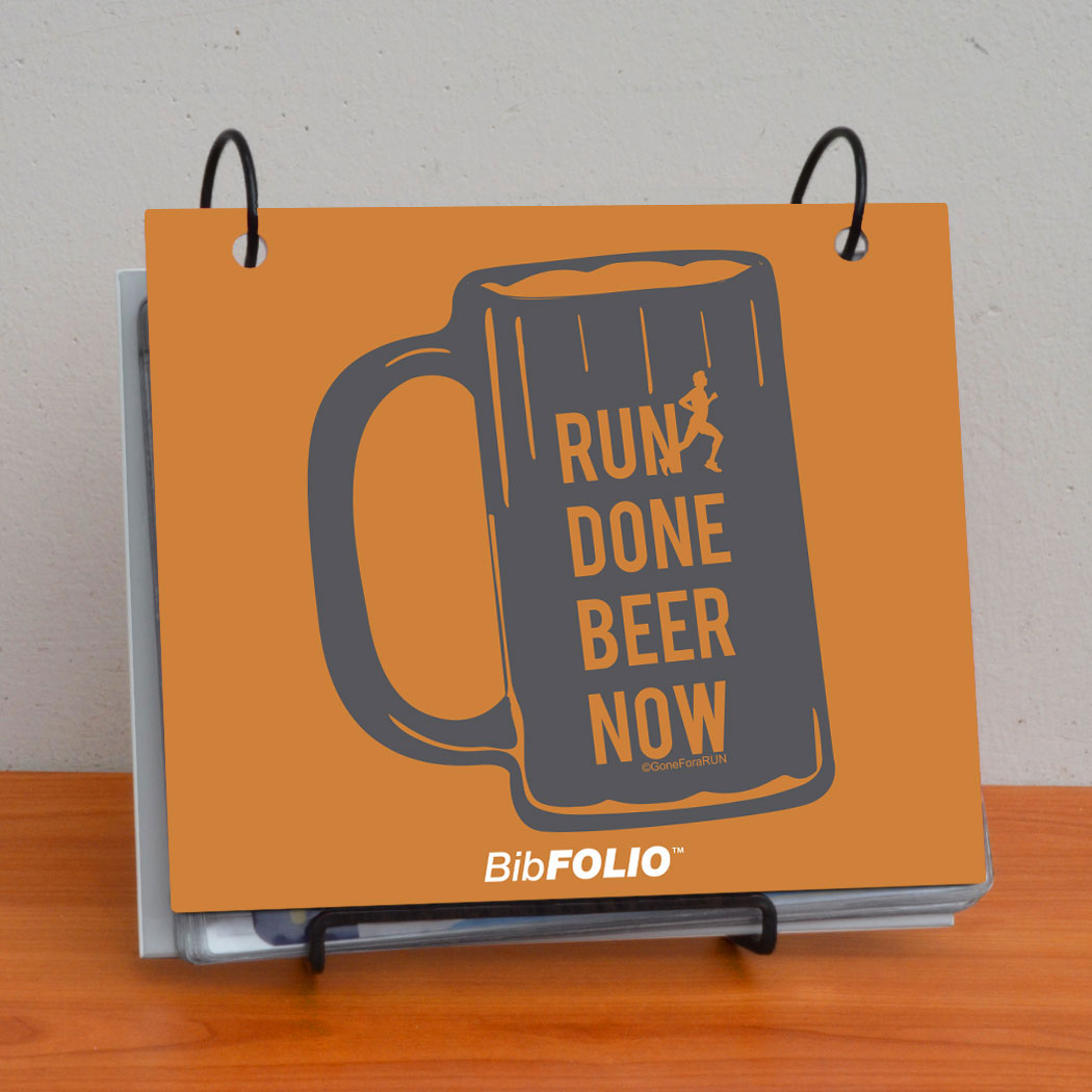BibFOLIO® Race Bib Album - Will Run For Beer