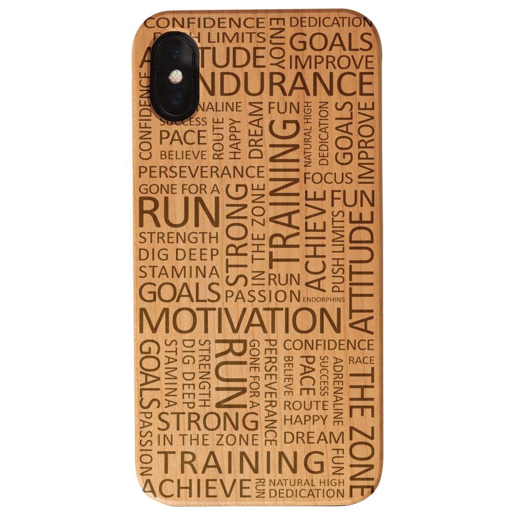 watch f1692 75cdd Running Engraved Wood IPhone® Case - Running Motivation