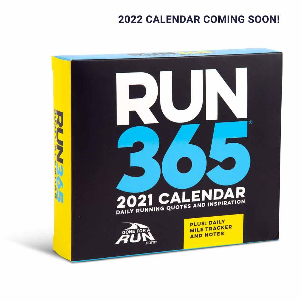 Inspirational Runner's 2021 Daily Desk Calendar