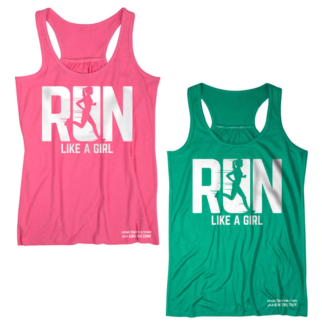 Choice of Pink or Green Flowy Tank