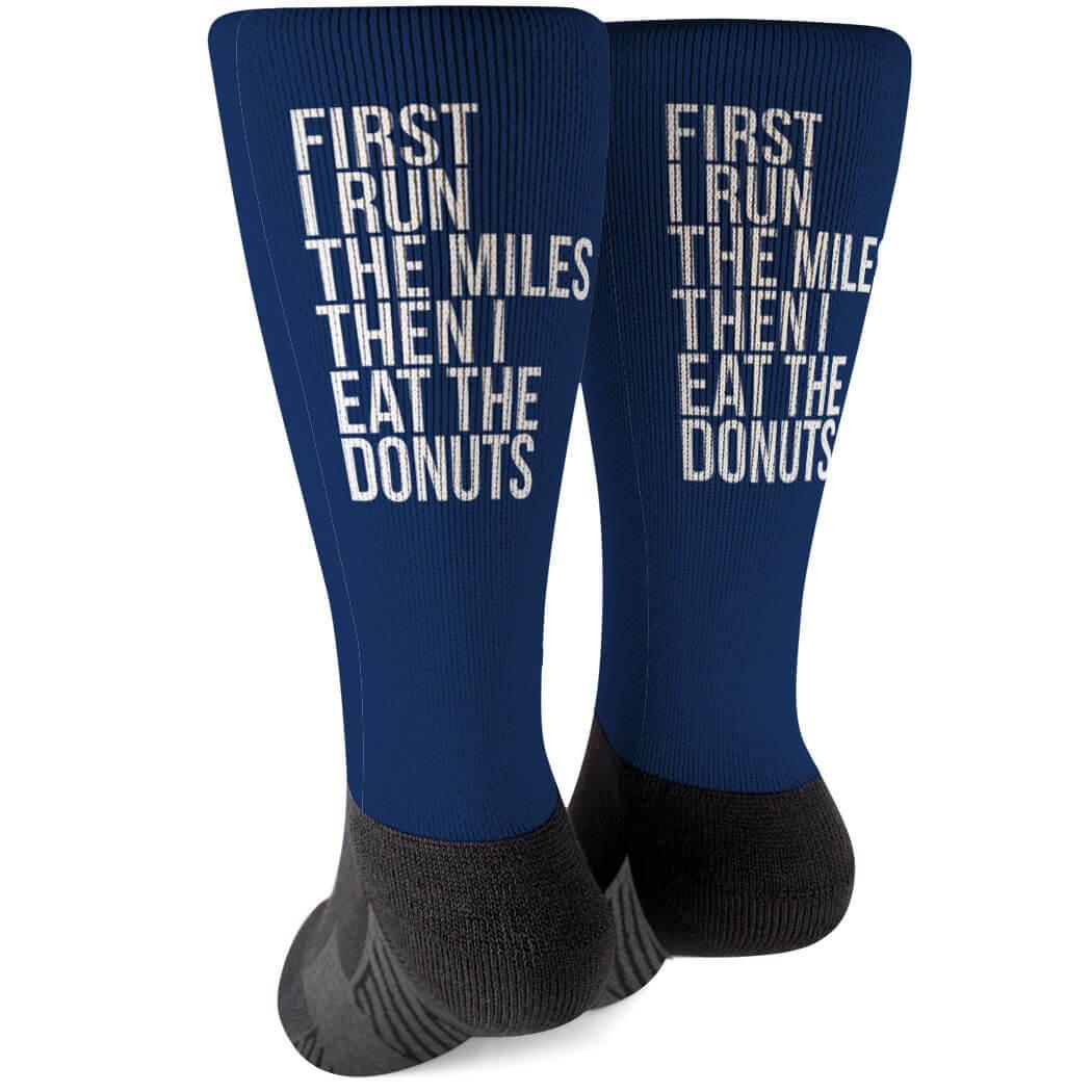 Running Printed Mid-Calf Socks - Then I