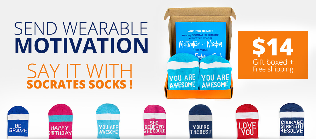 Send Wearable Motivation with Socrates Socks