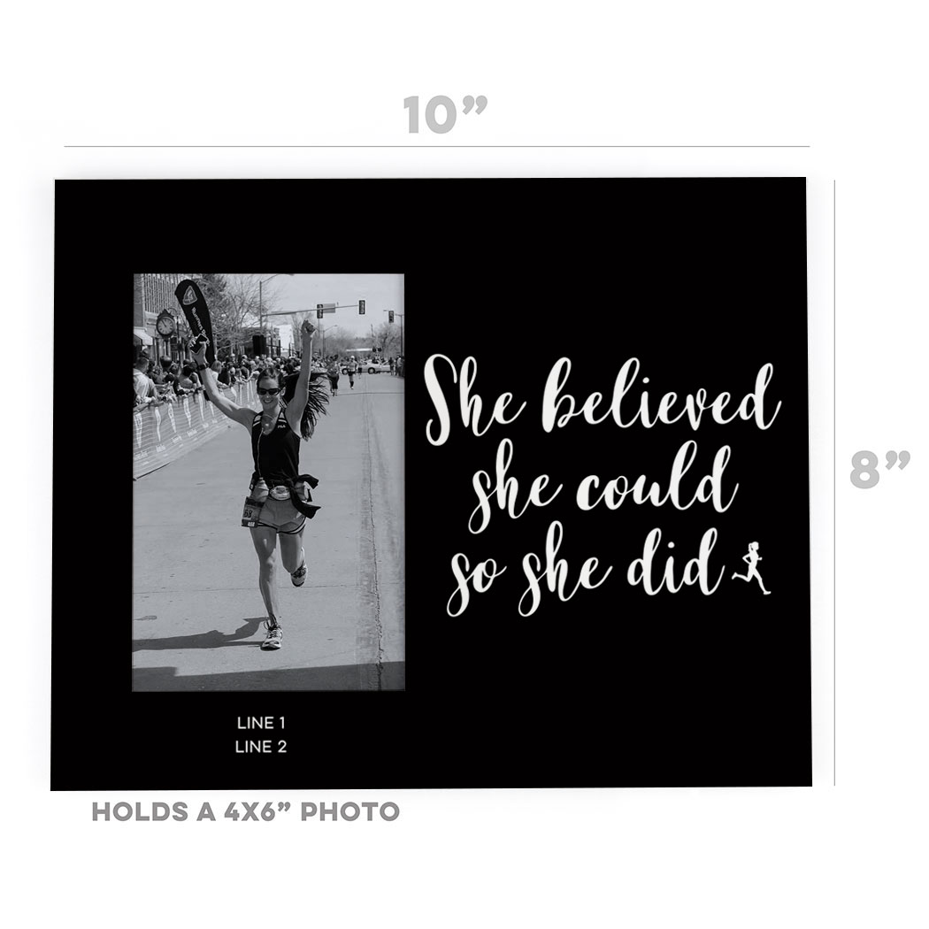 Running Photo Frame She Believed She Could Gone For A Run