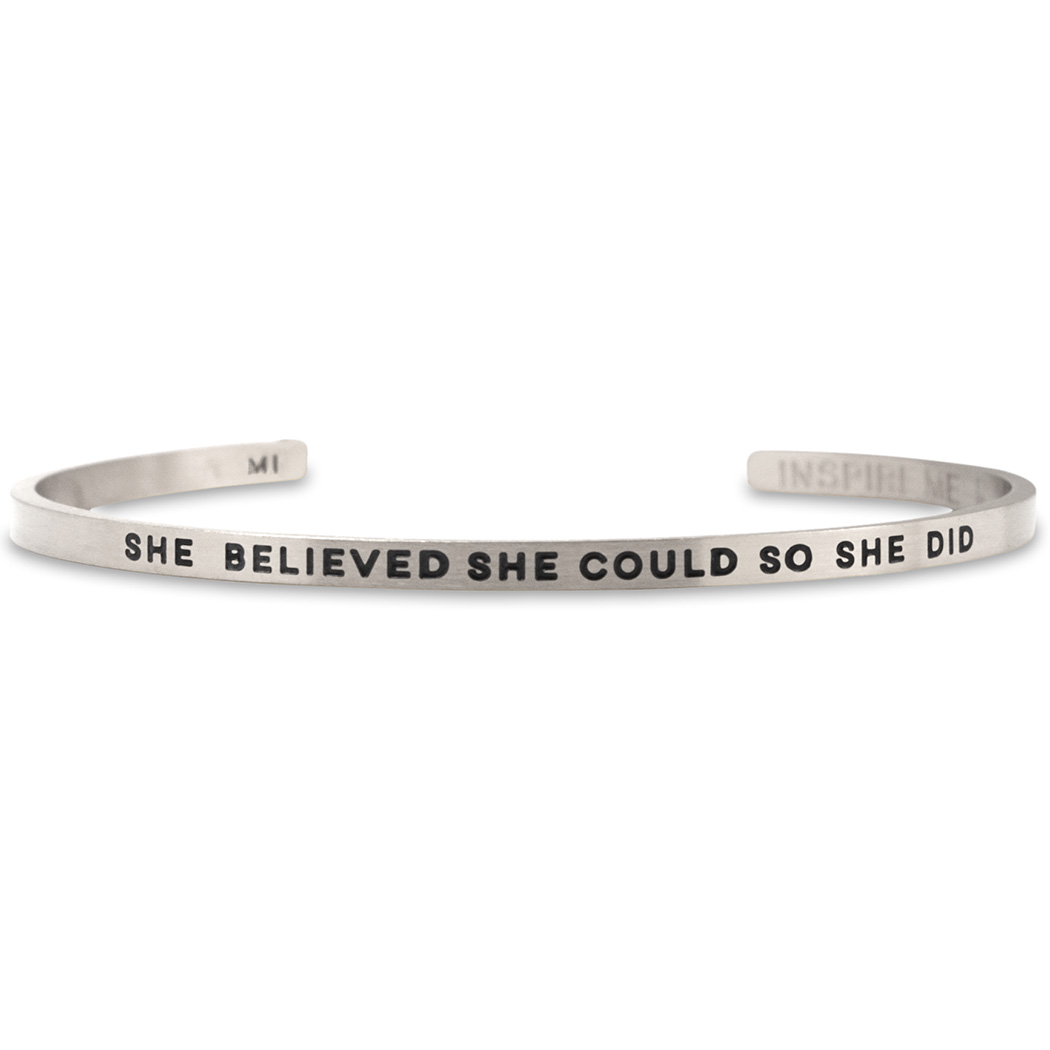 Inspireme Cuff Bracelet She Believed Could Click To Enlarge
