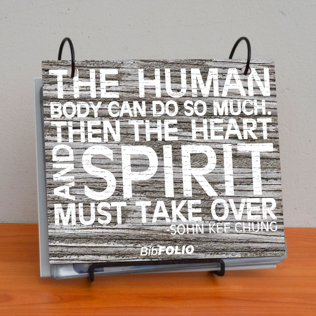BibFOLIO® Race Bib Album - The Human Body Rustic
