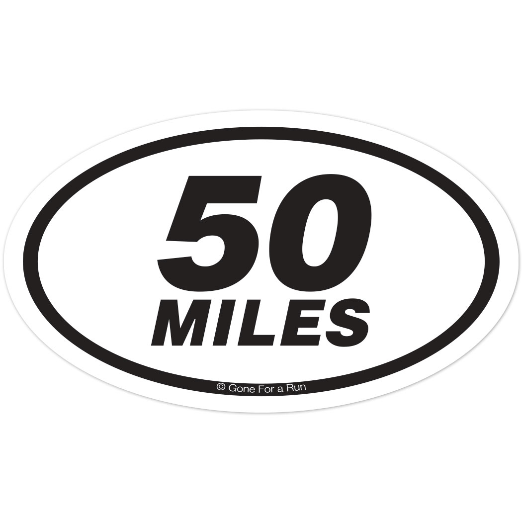 Miles Oval Car Magnet Car Magnet For Runners - Custom car magnets oval promote your brand