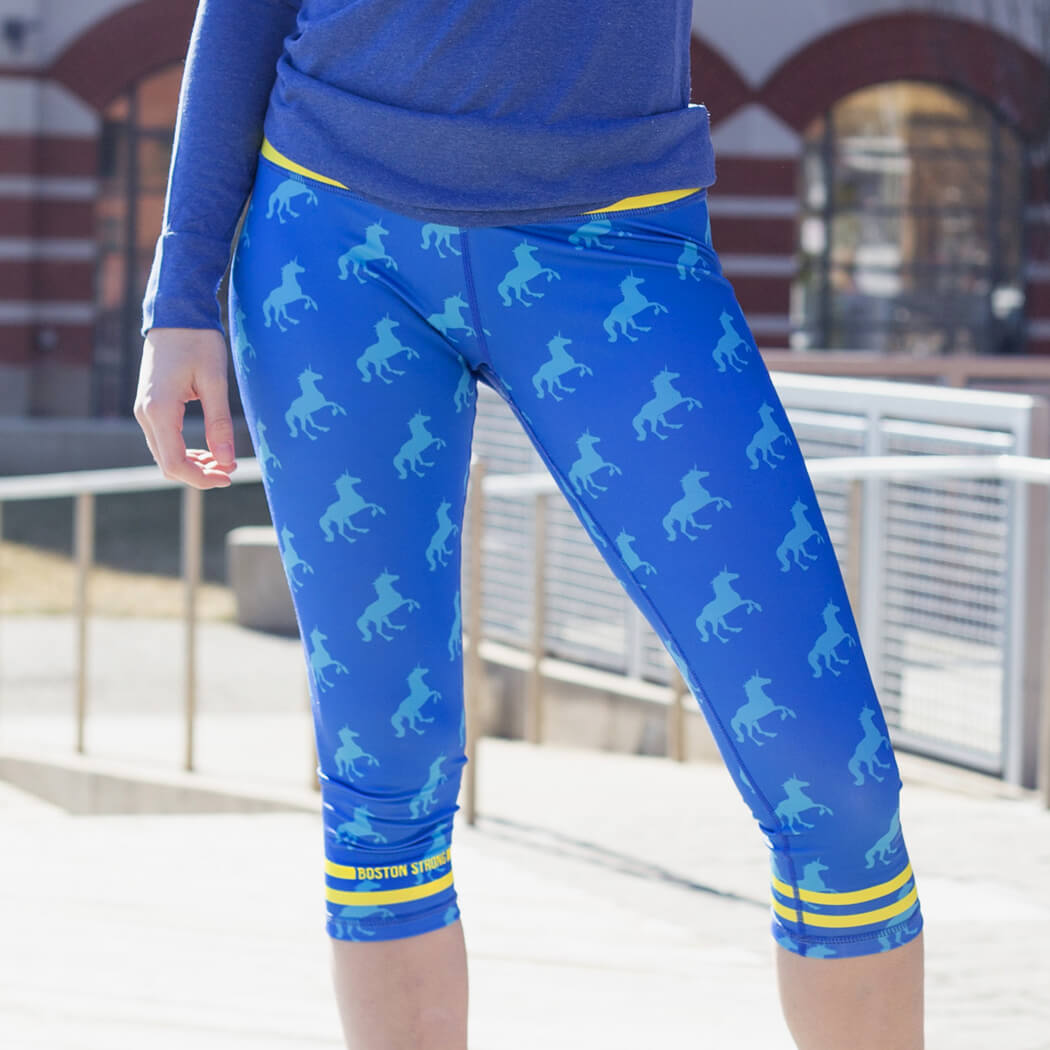 Running Performance Capris With Zipper Pocket Run With Unicorns Gone For A Run