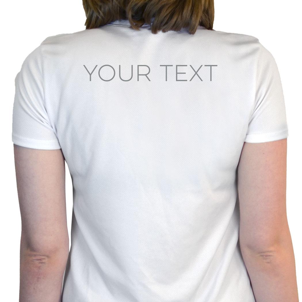Running Womens Customized White Short Sleeve Tech Tee Chicago
