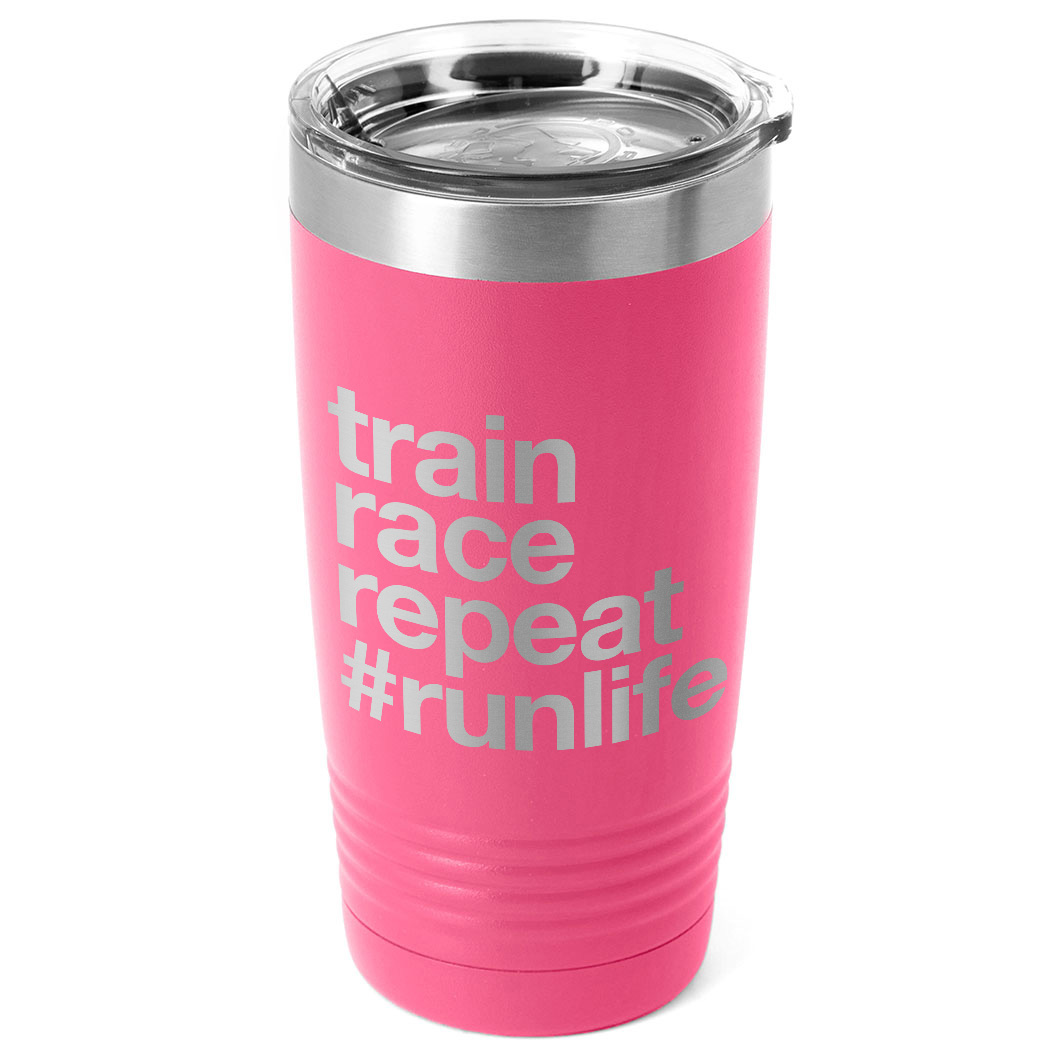 Running 20oz. Double Insulated Tumbler - Train Race Repeat