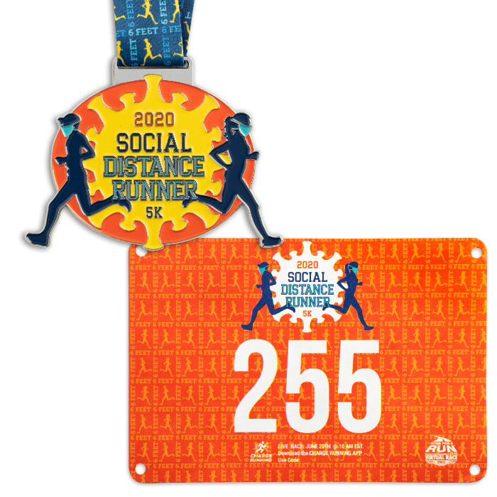 Authentic Race Bib & Finisher Medal