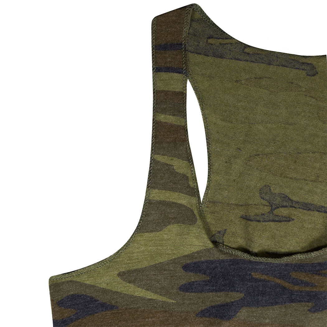 1712f6a0e5bbf ... Running Camouflage Racerback Tank Top - Run And Be Wild
