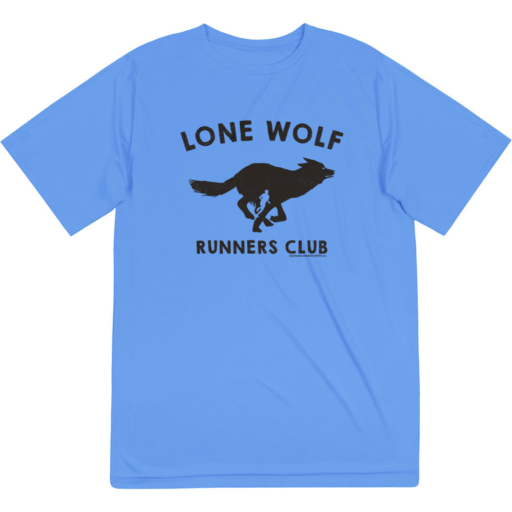 Men's Running Short Sleeve Tech Tee - Run Club Lone Wolf