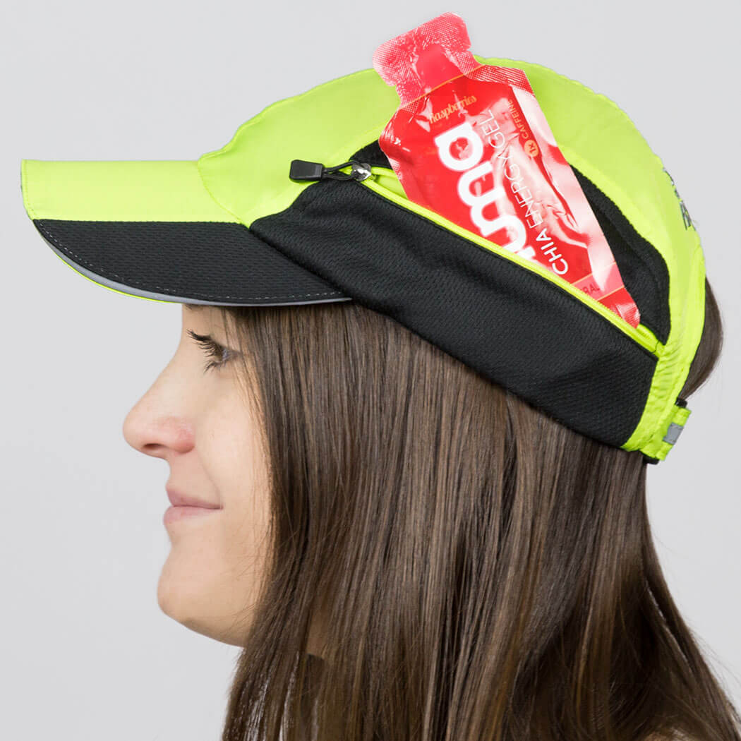 30978b6c649 ... Ultra Pocket Hat for Runners - Safety Yellow ...