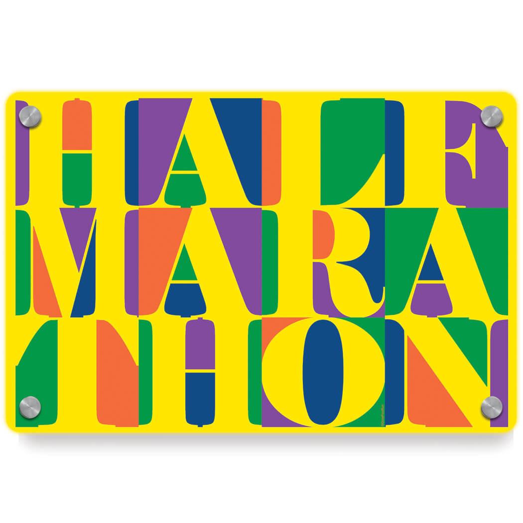 Running Metal Wall Art Panel - Half Marathon Mosaic | Gone For a Run