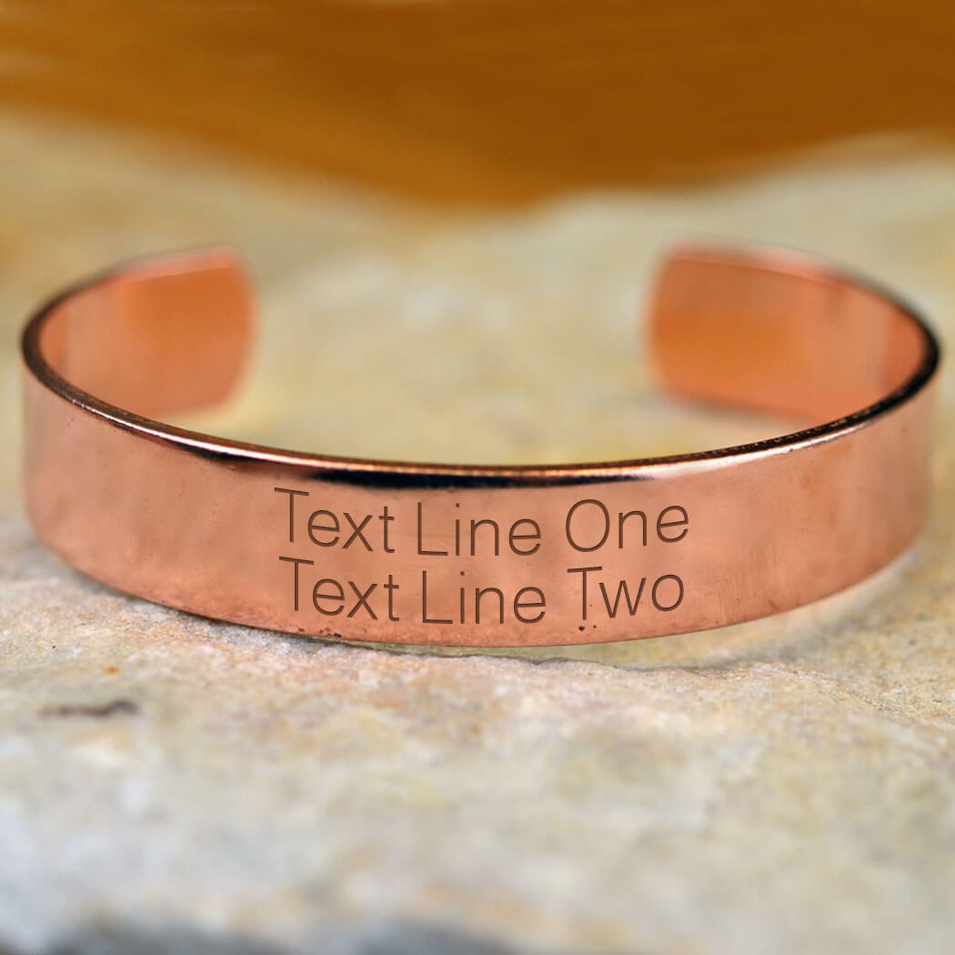 Custom Text Copper Bracelet Running Bracelet Running