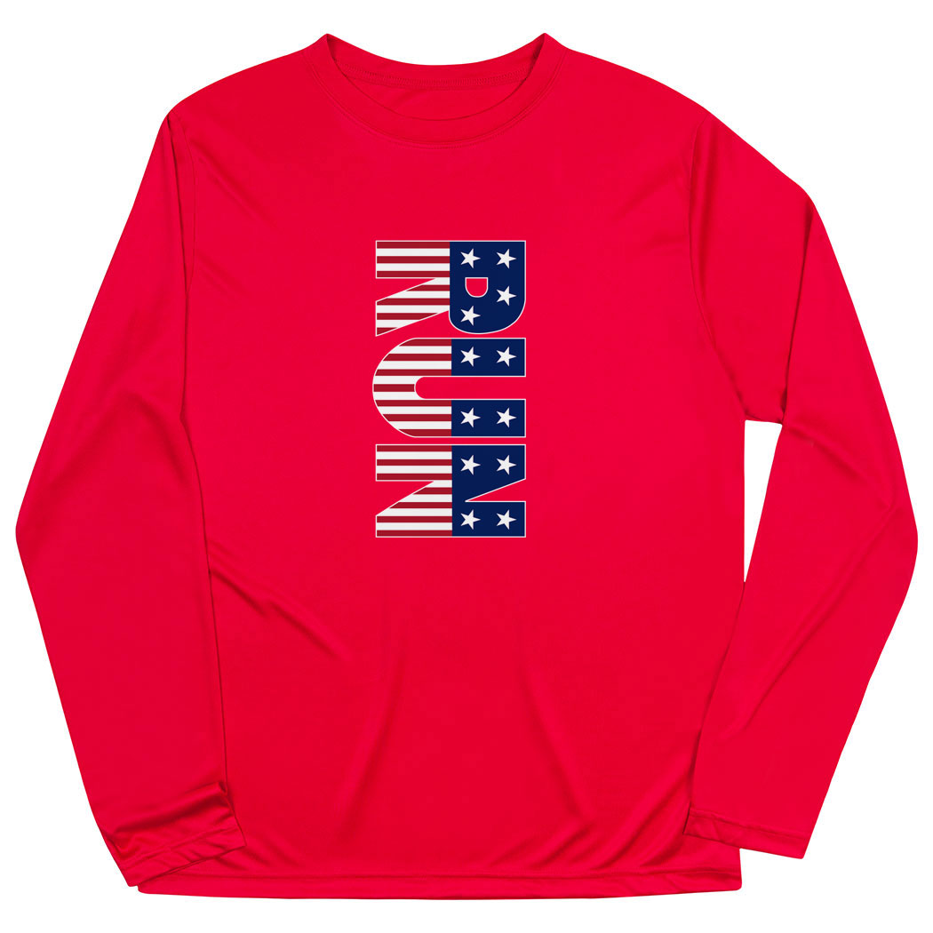 Men's Running Long Sleeve Tech Tee - Patriotic Run