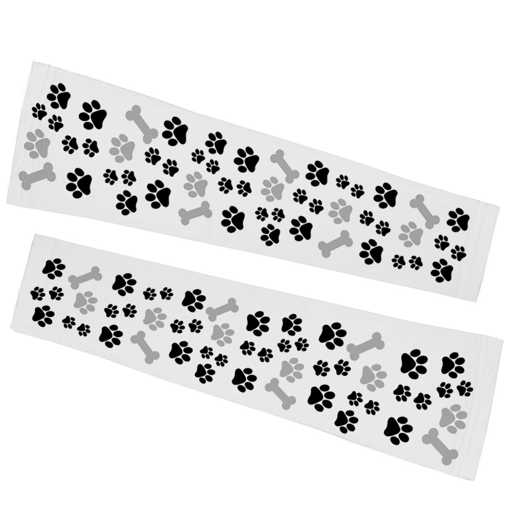 Printed Arm Sleeves - Paw Prints and Bones