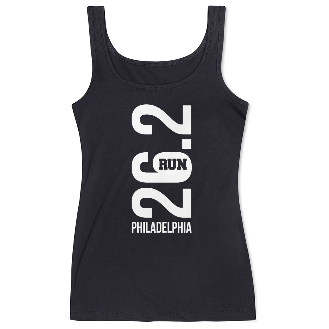 Running Women's Athletic Tank Top - Philadelphia 26.2 Vertical