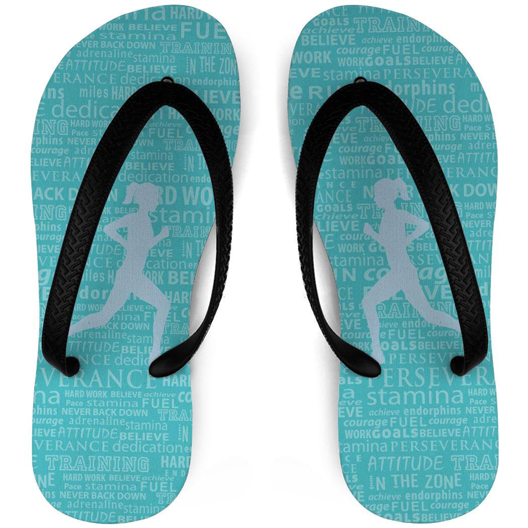 2a1d8d3f74055 Running Flip Flops Inspiration Words Female