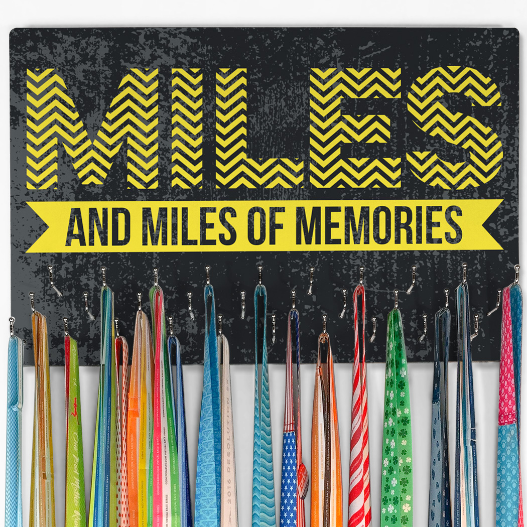 Running Large Hooked on Medals Hanger - Miles and Miles of Memories