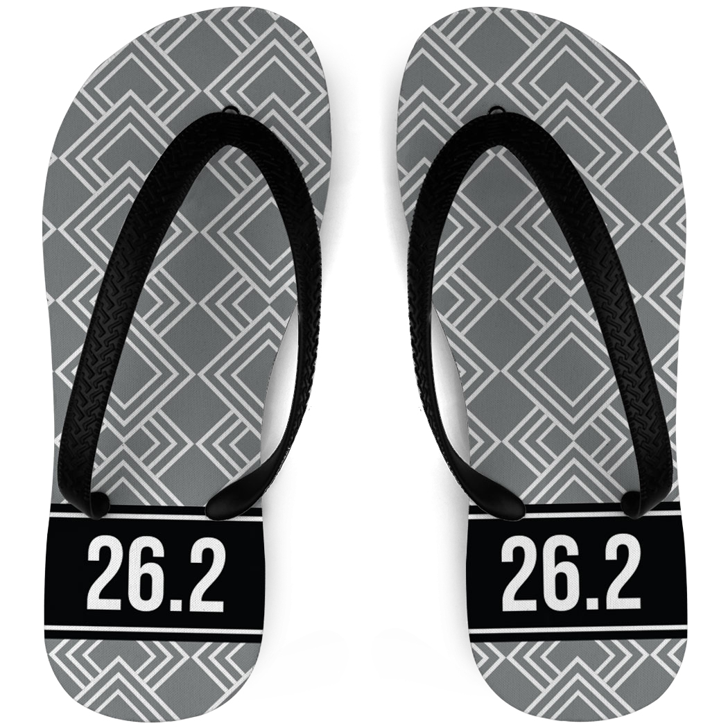 Running Flip Flops Diamond Pattern With Ribbon 26.2