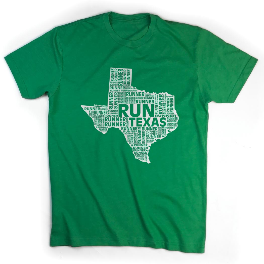 Running short sleeve t shirt texas state runner gone for Talk texan to me shirt