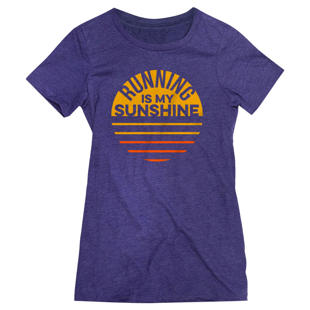 Women's Everyday Runners Tee - Running is My Sunshine