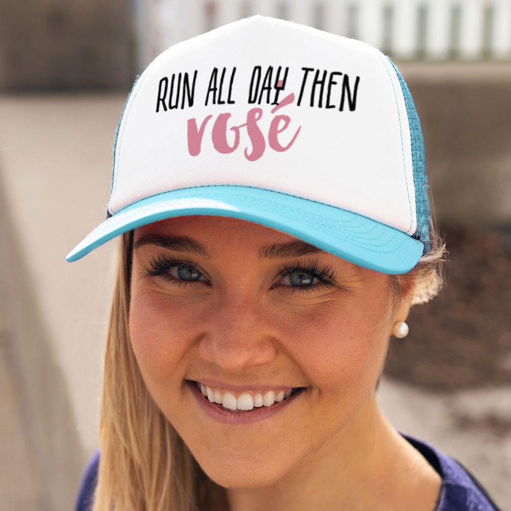 ab612ea46c9 ... Running Trucker Hat - Run All Day Then Rosé
