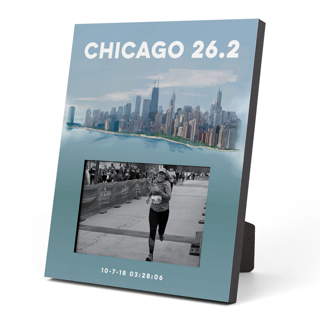 Running Photo Frame - Chicago Sketch | Gone For a Run