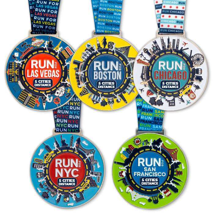 5 Finisher Race Medals