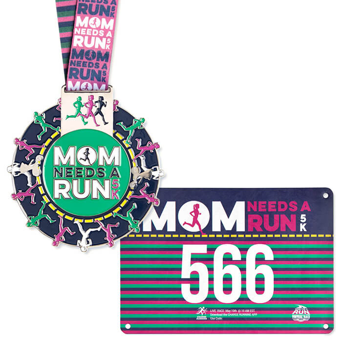 Authentic Race Bib & Spinning Medal