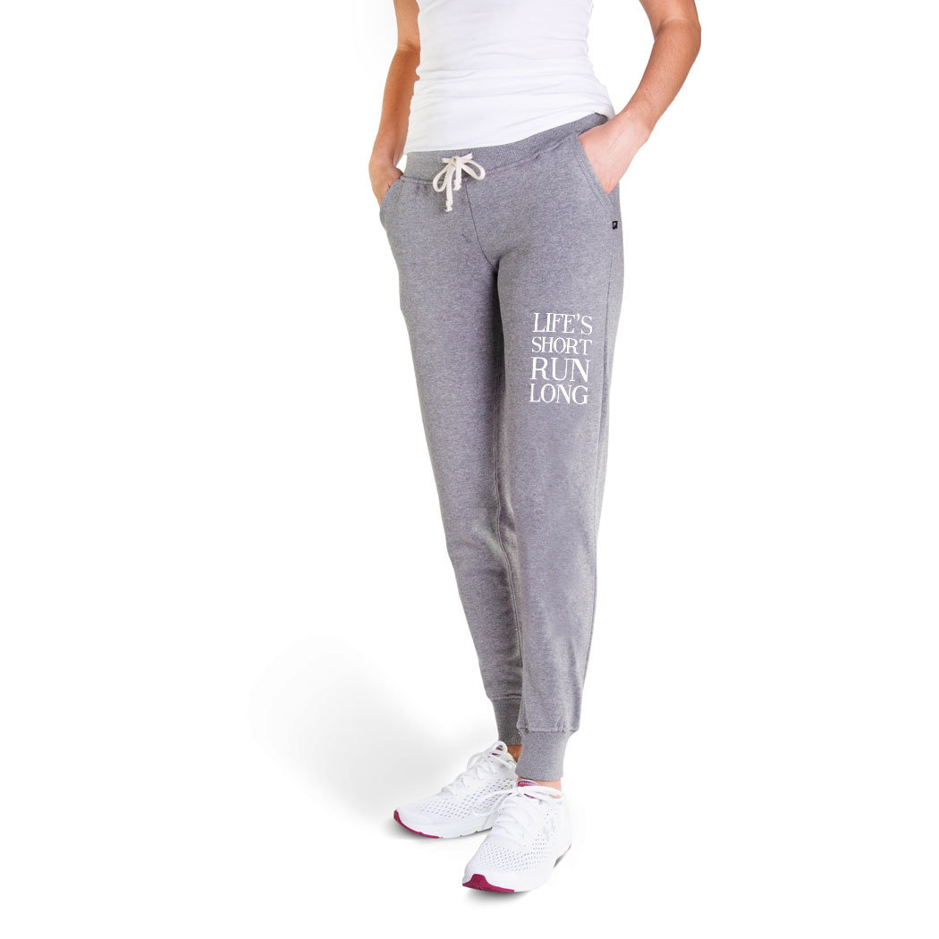 Running Women's Joggers - Life's Short Run Long (text)