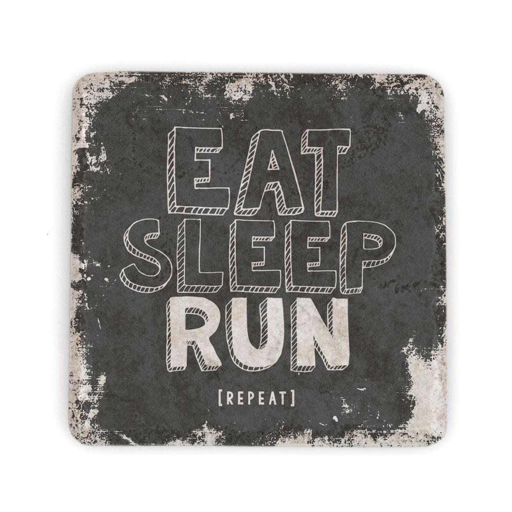 Images Running Stone Coaster Eat Sleep Run Repeat