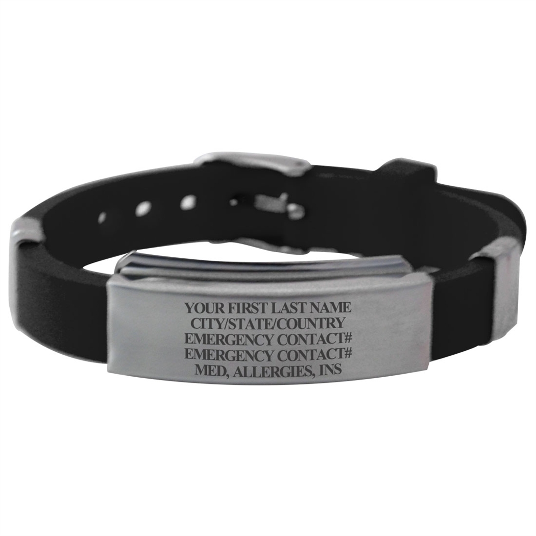 identification addiction cuff medical s engravable id eve bracelet