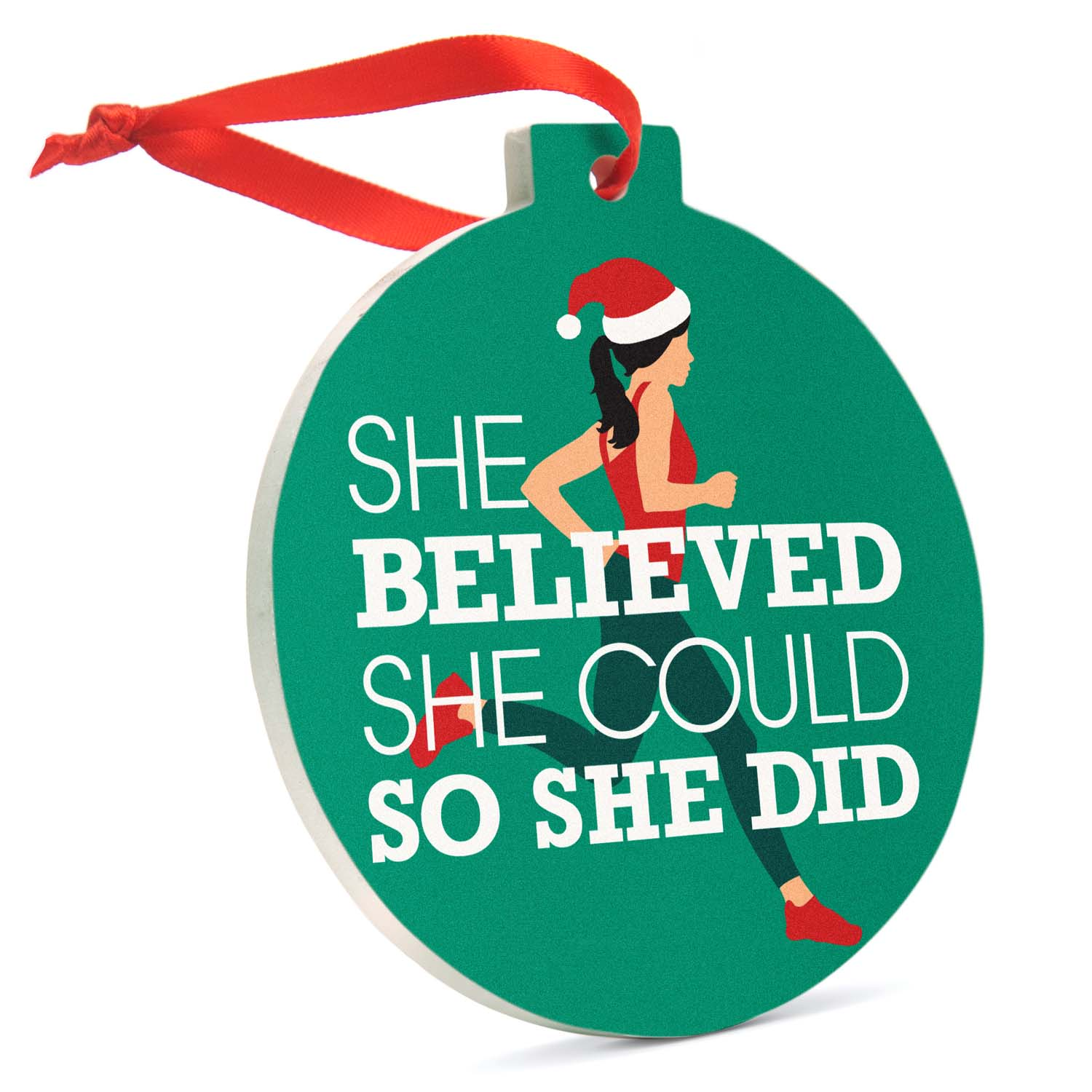 Runner She Believed She Could So She Did Charm Keychain 5k Keychain Perfect gift for Runners Gift for Girls and Women Running Jewelry