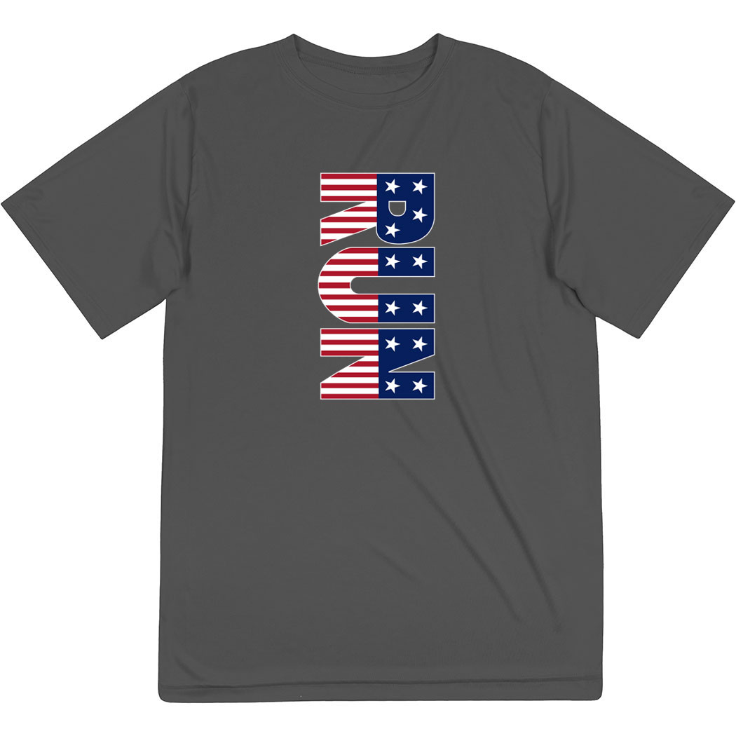 Men's Running Short Sleeve Tech Tee - Patriotic Run