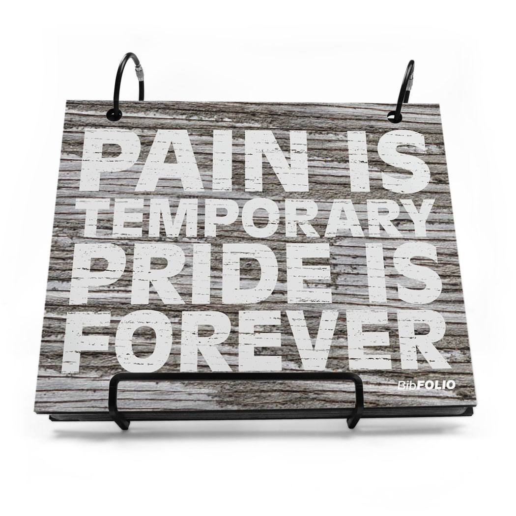 BibFOLIO® Race Bib Album - Pride Is Forever Rustic