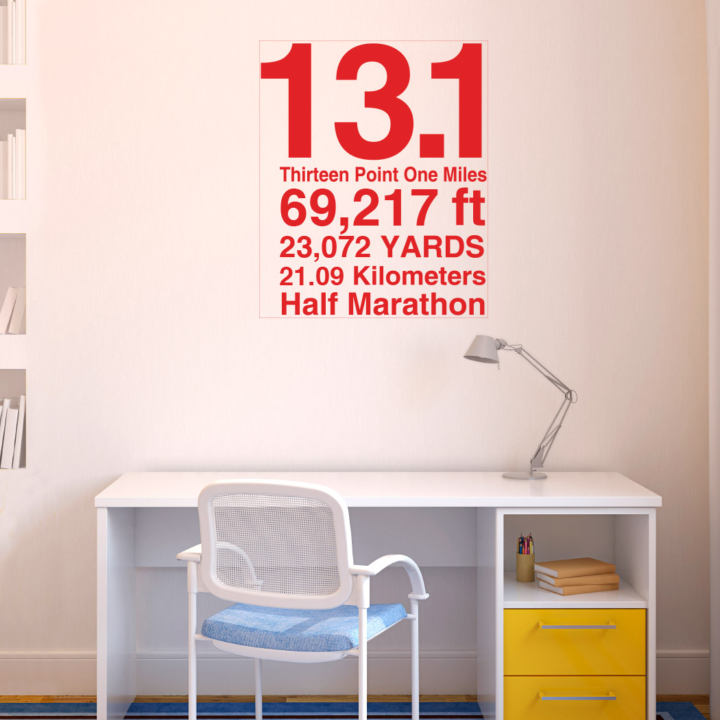 131 math miles goneforarungraphix wall decal half marathon 131 math miles goneforarungraphix wall decal amipublicfo Image collections