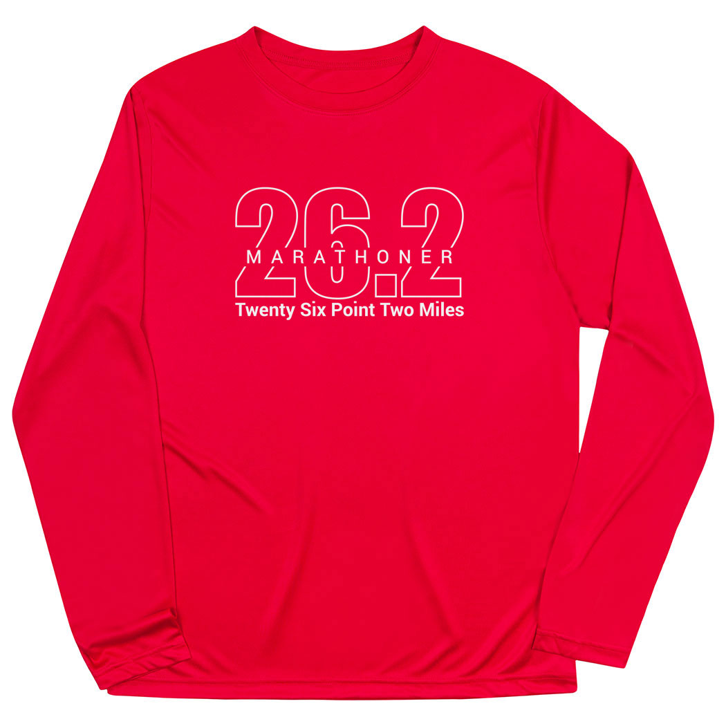 Men's Running Long Sleeve Tech Tee - Marathoner 26.2 Miles