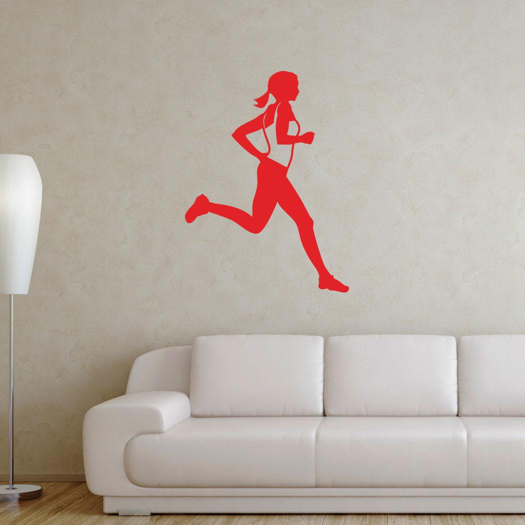 Runner Girl Removable GoneForARunGraphix Wall Decal & Runner Girl Removable Wall Decal | Running Decals | Running Stickers