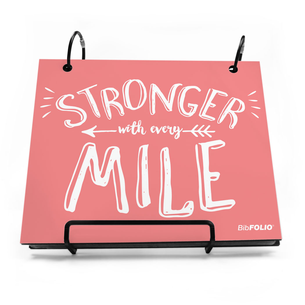 BibFOLIO® Race Bib Album - Stronger With Every Mile