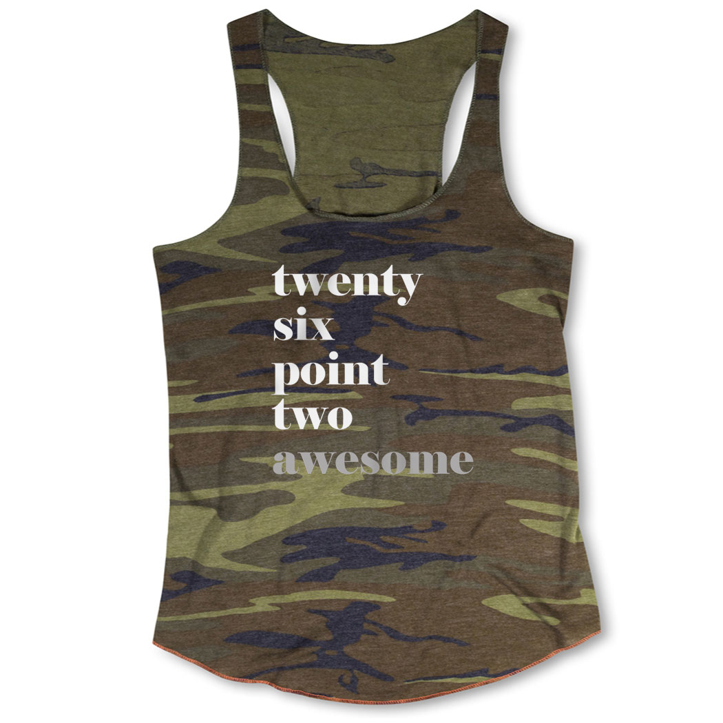 5d0617c15d4b8 Running Camouflage Racerback Tank Top - Run Mantra - Awesome Click to  Enlarge