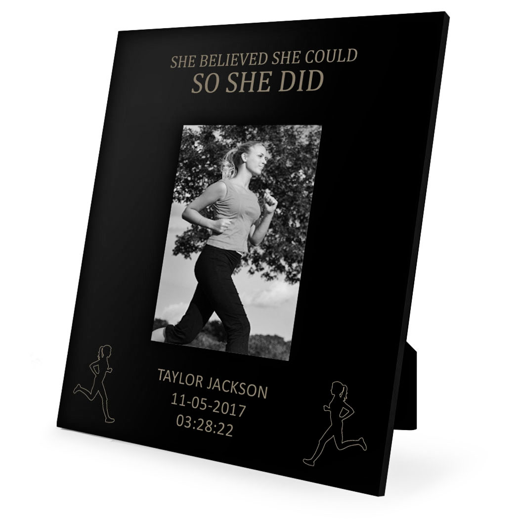 Running Engraved Picture Frame She Believed She Could So She Did