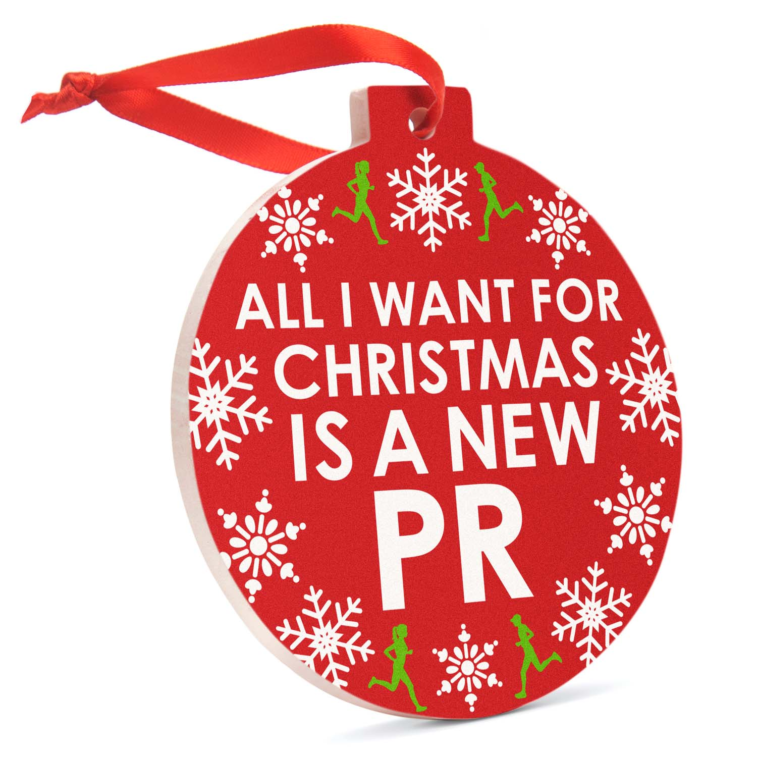 Running Porcelain Ornament - All I Want For Christmas (Script ...