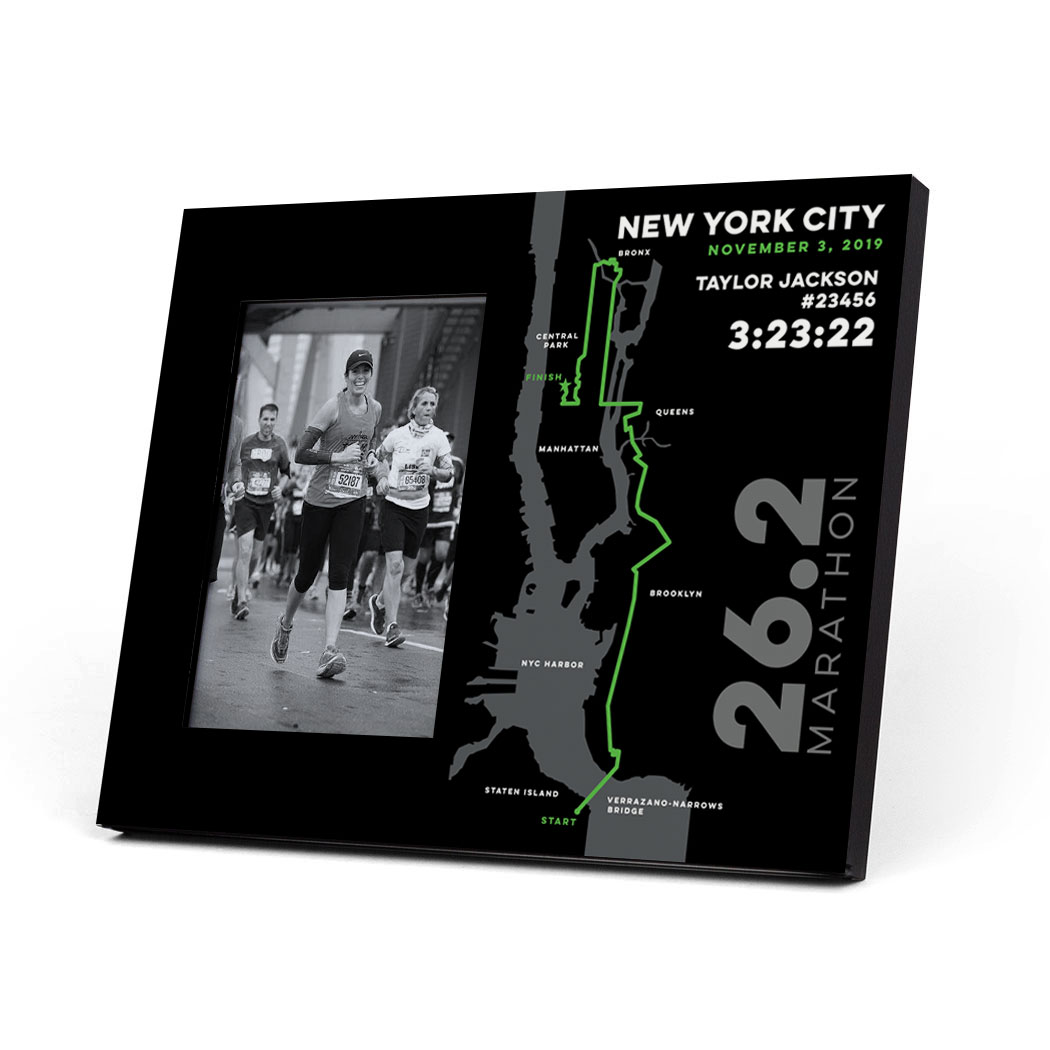 Running Photo Frame - Personalized New York City Map