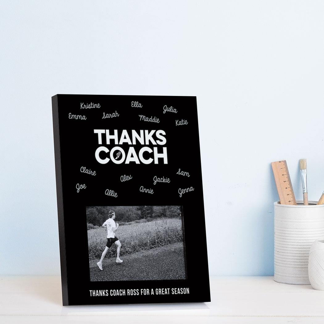 Track And Field Photo Frame Coach Autograph Chalktalksports